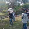 Polisi Bersama Club Motor Sarmi Bagikan Sembako Korban Banjir di Kampung Kaptiau