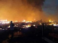 300 Kios di Pasar Assue Mappi Terbakar, 700 Warga Kehilangan Tempat Tinggal
