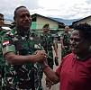 Kunjungi Pasar di Wamena, Pangdam Disambut Senyum Kegembiraan Pedagang Mama Papua