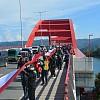 Gemapi Bentangkan Bendera Sepanjang 1,5 Km di Jembatan Youtefa, Dihadiri Kasrem 172/PWY